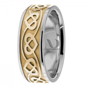 Bill Celtic Heart Wedding Rings 7.00mm
