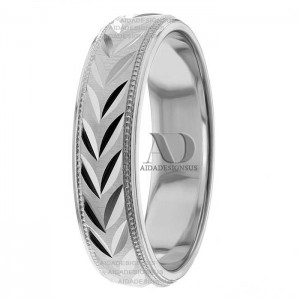 Alberto 5mm Wide Designer Wedding Ring