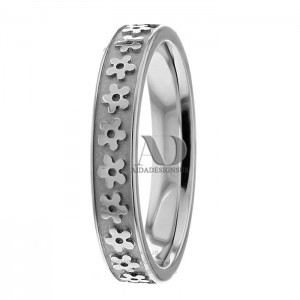 Lynne 4mm Wide Designer Wedding Ring