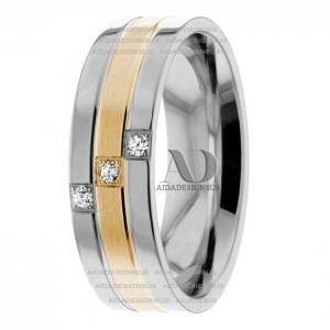 Two Tone Diamond Wedding Ring