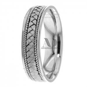 Delbert 6mm Wide Handmade Wedding Bands